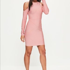 Misguided Studded Sleeve Dress